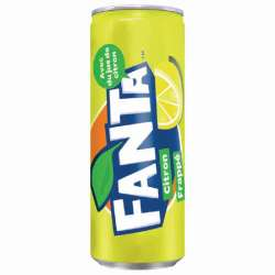 Fanta citron frappé 33cl - 24 canettes