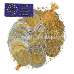 """~Pièces """"euro"""" en chocolat au lait - filet de 100g en stock"""