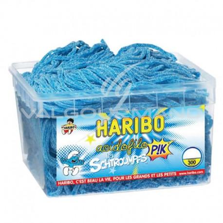 Acidofilo framboise Schtroumpfs Pik HARIBO - tubo de 300