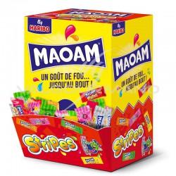 Maoam stripes HARIBO - boîte présentoir de 240 (soit 0.074€ pièce !) en stock