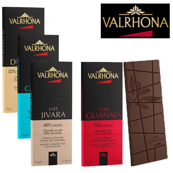 Tablettes VALRHONA 70g - lot de 3 + 1 OFFERTE